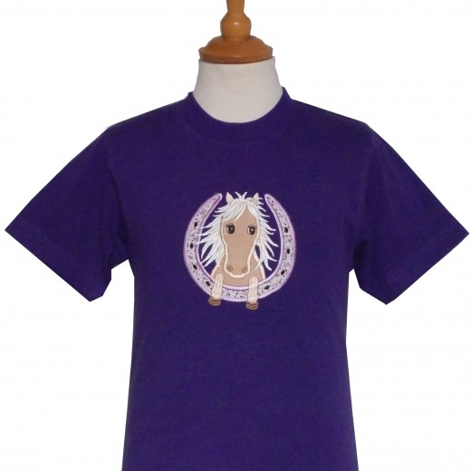 Horseshoe Pony Tee Purple