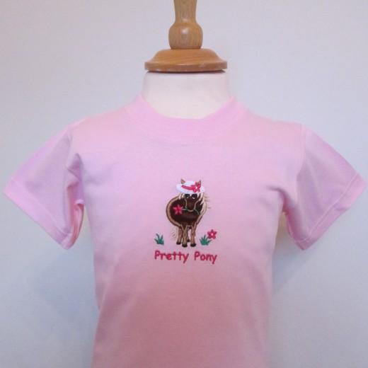Pretty Pony Baby Tee Pink